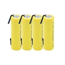 Ni-mh 1.2V dans AA batterie rechargeable 2300 mAh nimh cellule jaune étui avec inserts de soudage pour Philips rasoir électrique rasoir toot