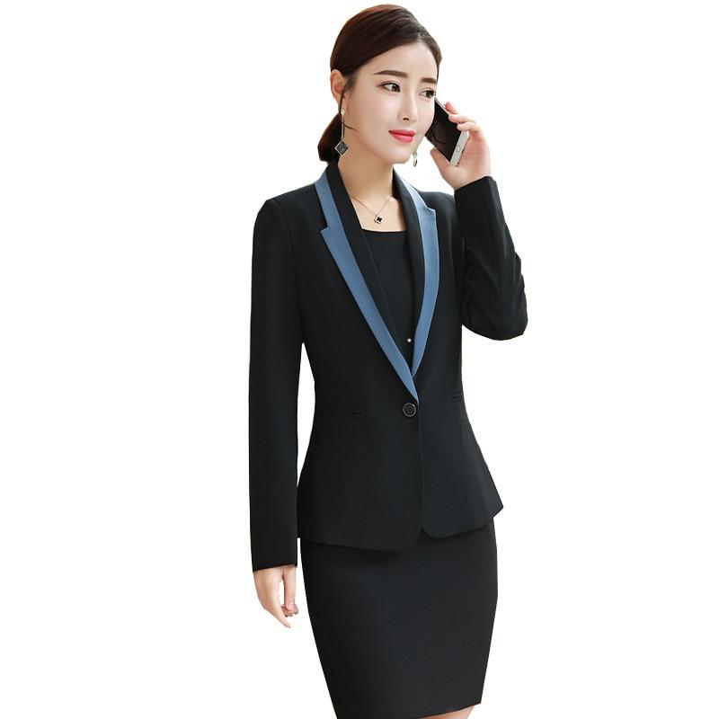 womens blazer  dress korean business clothes sets 2018