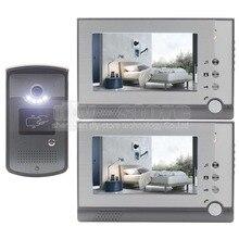 DIYSECUR 7inch Handfree Color LCD Display Video Door Phone Enter Intercom Doorbell Card Key Reader RFID LED Night Vision Camera
