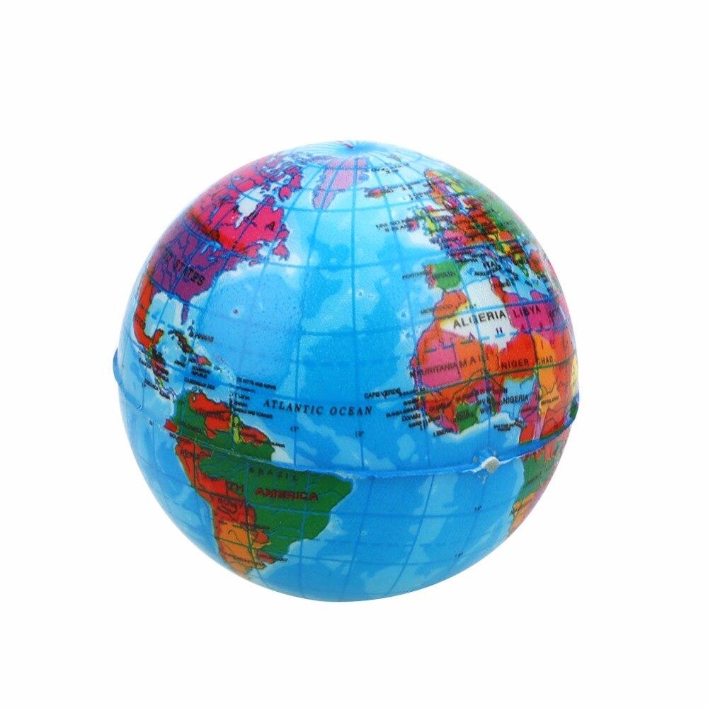 Sponge globe toy Sponge Earth ball map 6.3/7.6cm PU Planet ...