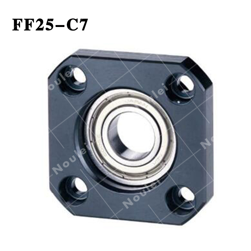 CNC part BallScrew End Support FF25 C7 Set Blocks With Lock Nut Floated & Fixed Side for SFU 3205 3210 BallScrew noulei fk25 ff25 ball screw bracket support 1pcs fk25 fixed side 1pcs ff25 floated side for cnc parts