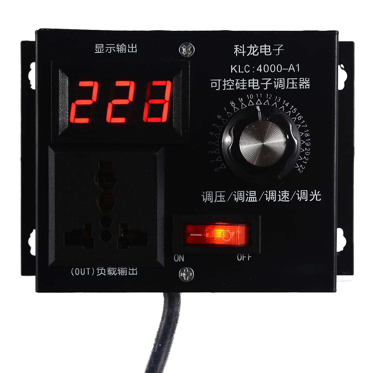 High Power Electronic Voltage Controller 220V 4000W Controlled Variable Voltage Controller For Fan Speed Motor Control Dimmer