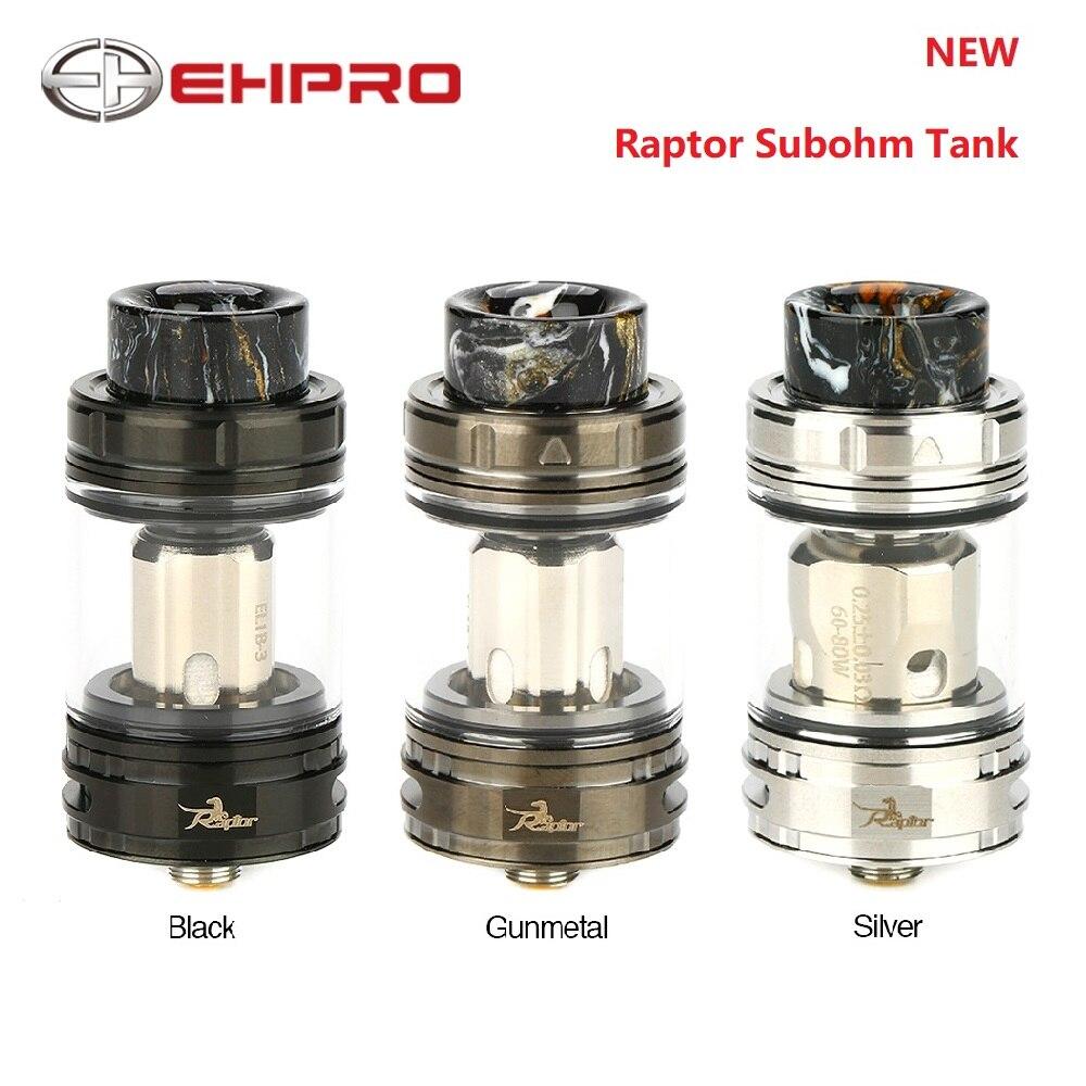 Original Ehpro Raptor Subohm réservoir premier innovant 0.15ohm & 0.25ohm Unique mer herbe maille bobine Vape atomiseur fit froid acier 100