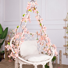 silk cherry blossom Wedding decoration Fake Sakura Rattan Vine Artificial flower Home Arch decor wall Hanging Garland