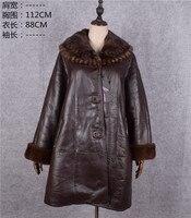 Распродажа дизайнерские Брендовые женские из натуральной овечьей кожи барашек пальто кашемировая шерсть внутри на норки воротник Куртки к