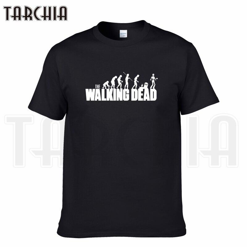 TARCHIA 2019 summer brand evolution walking dead dunk t-shirt cotton men short sleeve boy casual homme tshirt t tops tees plus