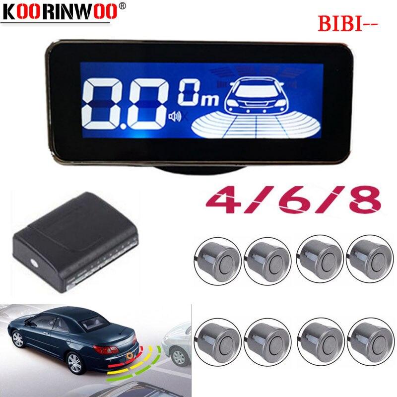 Tela Digital LCD Carro sensores de estacionamento Eletromagnético Koorinwoo 4/6/8 Radares frente Voz Parktronic Buzzer Traseira Reversa sistema