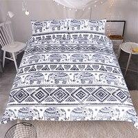 Envío gratis animal elefante Boho 1 unid funda nórdica y 2 unids fundas de almohada tamaño full twin queen rey de Bohemia ropa de cama de textiles para el hogar