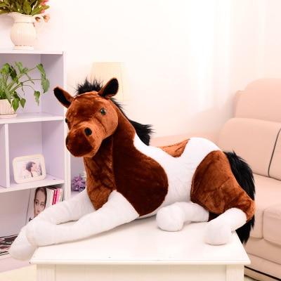 90*50 cm 2 Colori di Simulazione Big Horse Plush Doll e Nero Cavallo bianco Farcito Peluche di Buona Qualità Grande Bambola per adulto-in Animali di pezza e peluche da Giocattoli e hobby su  Gruppo 2