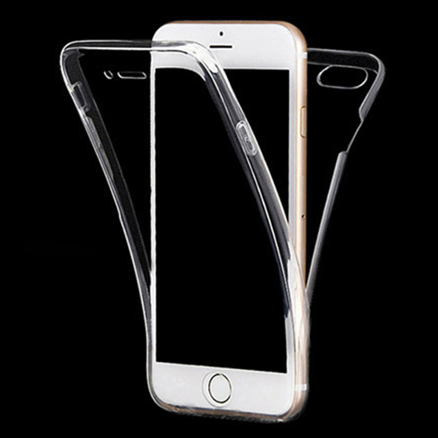 Soft Cell Phone Case for iPhone 6 6S 7 8 Plus X 10 XR XS Max 5S 5 s 5SE Silicon clear 360 full body Touch Screen thin Back Cover