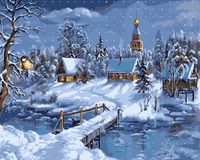 Snow Landscape Frameless Diy Oil Painting By Numbers Canvas Painting Wall Art Home Decoration For Living