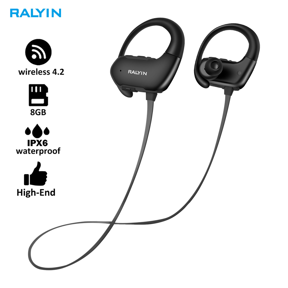 Ralyin Earphones Mp3-Player Music Wireless-Headset Sport New 8GB WITH MIC New-Arrival