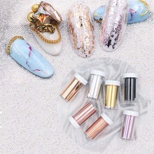 цена на Laser Matte Rose Gold Nail Transfer Foils Decorations Nail Art Polish Wraps Decals DIY Nail Beauty Stickers Accessories 4*100cm