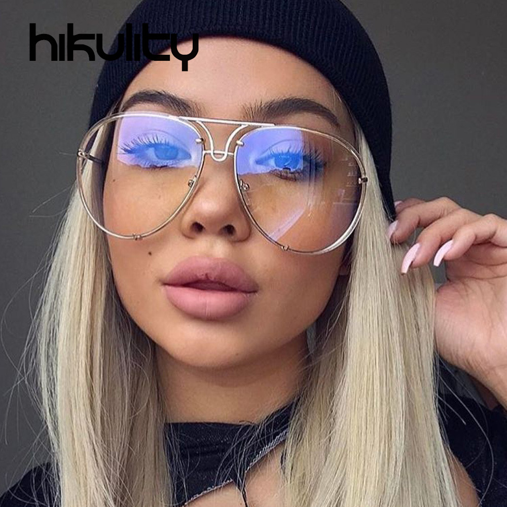 Clear Sunglasses Women  online whole aviator sunglasses clear gold from china