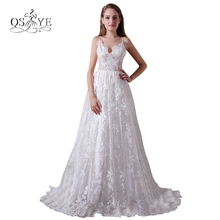 2017 New Elegant Lace Wedding Dresses Plus Size A line Sweetheart Sexy Open Back Cheap Bridal