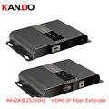 378-4K 4K X 2K Hdbitt HDMI по IP волоконно-оптический удлинитель передача 4K x 2K @ 25/30Hz 3D глубокий цвет 24bit CEC HDCP передача видео