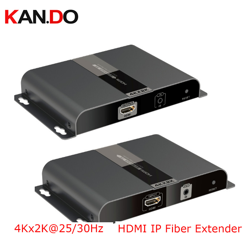 378-4K 4KX2K Hdbitt HDMI Over IP Fiber Optic Extender Transmit 4Kx2K @25 / 30Hz 3D Deep Color 24bit CEC HDCP Video Transmission
