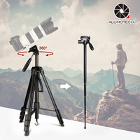 Portable 21.3~70Multi Function Tripod Monopod For Photography Camera Video Studio Film Travelling for DSLR with Carry Bag