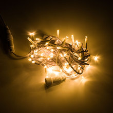 32.8 'लंबाई 100 एल ई डी सफेद पीवीसी एलईडी स्ट्रिंग लाइट वाटरप्रूफ क्रिसमस एलईडी चेन लाइट शादी सजावट रमजान सजावट प्रकाश