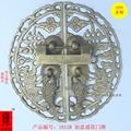 Chinese rosewood furniture door door handle / copper Pisces Yue Longmen antique flower pin double handle
