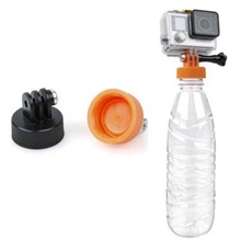 Diameter 37mm Water Bottle Connector Monopod Tripod Surfing Plastic Bottle Mount Adapter Connector for Gopro Hero 4 3(China)