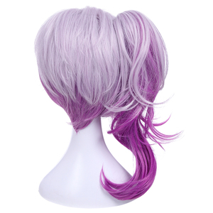 Image 4 - L email wig LOL Lux Cosplay Wigs the Lady of Luminosity Peluca de Cosplay ondulada púrpura mixta coleta pelo sintético resistente al calor