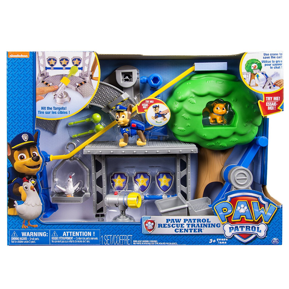 Hot Genuine PAW PATROL RESCUE TRAINING CENTER with Chase Chickaletta Callie Kitty Zip Line Crane Figures
