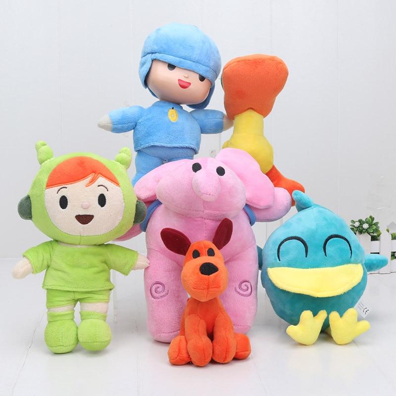 POCOYO Elly Elefante Elephant Pato Patito Pocoyo Loula Dog Perro Stuffed Animal Plush Toys Cute Dolls New Kids Gift