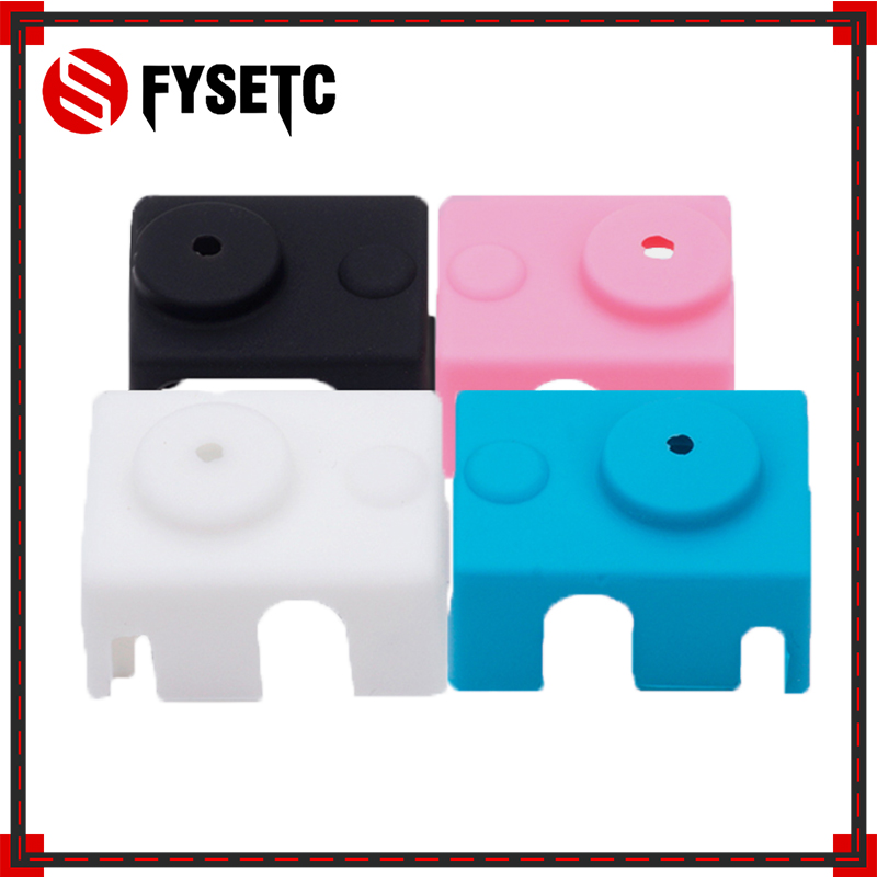 50pcs V6 Silicone Sock <font><b>3D</b></font> <font><b>printer</b></font> For E3D V6 PT100 Original J-head hotend 1.75/3.0mm Heated Block Extruder <font><b>Prusa</b></font> <font><b>i3</b></font> <font><b>MK3</b></font> image