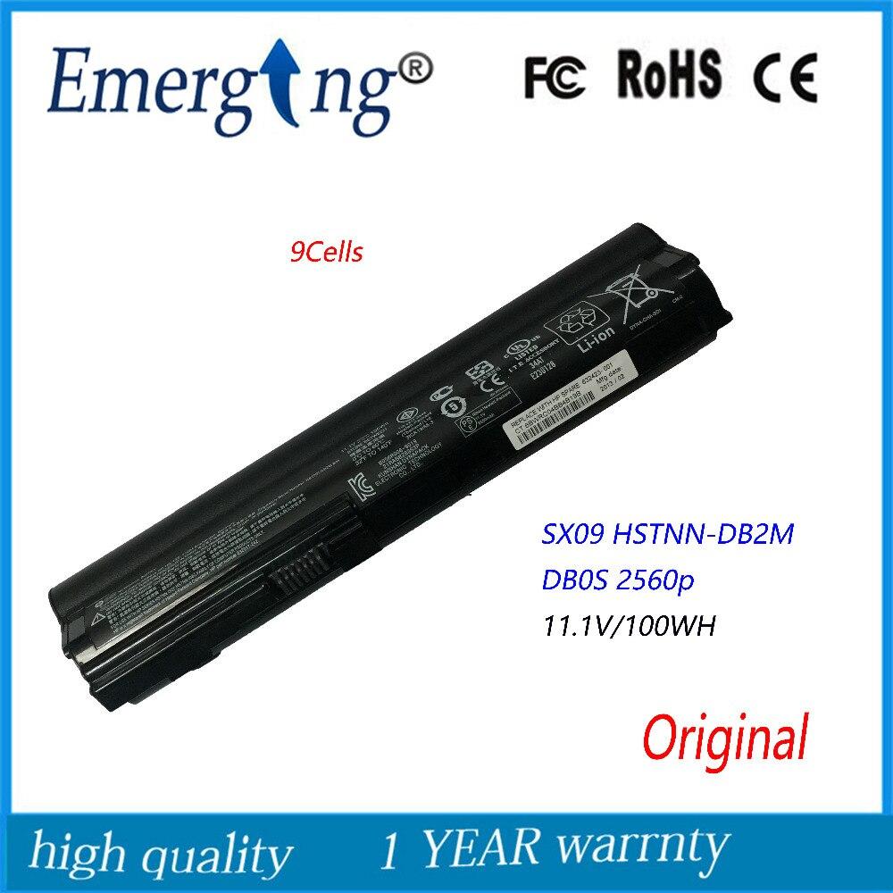 9 ячеек 11.1 В 100wh новые оригинальные аккумулятор для ноутбука Hp Sx09 Hstnn-db2m Db0s 2560 P 2570 P Sx03