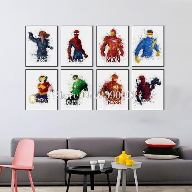 DIY Cuadros de punto de cruz dibujos animados superhéroe costura 5d ...