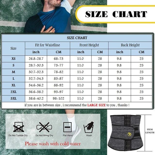 NINGMI Males Modeling Belt Slimming Waist Trainer Mens Body Shaper Corset Neoprene Shapers Tummy Trimmer Shapewear Cincher Strap 5