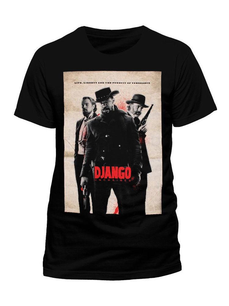 django-unchained-movie-poster-official-font-b-tarantino-b-font-black-sleeve-tee-shirt-homme-t-shirt