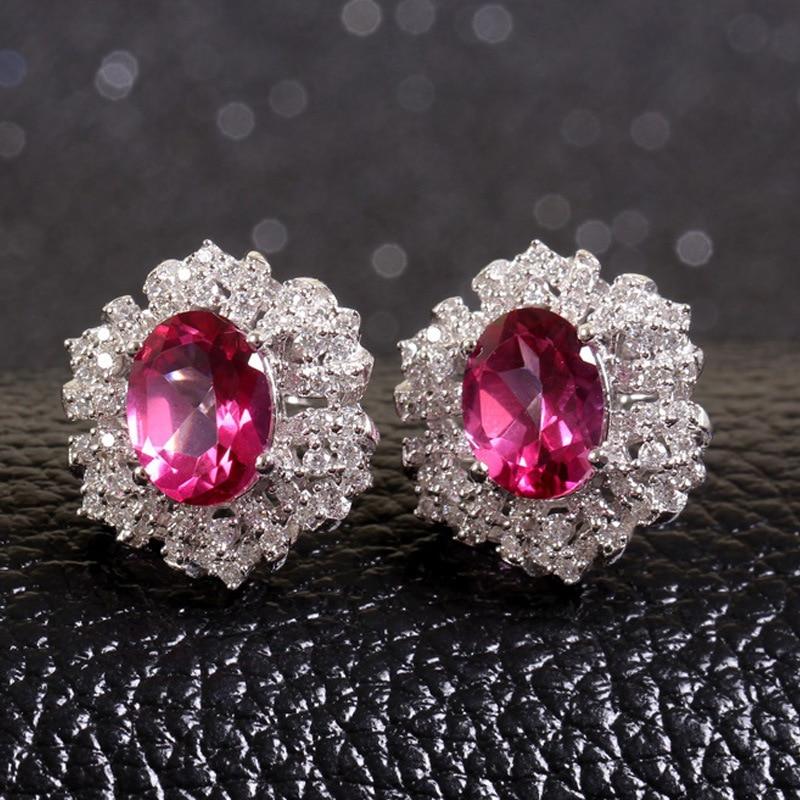 fashion jewelry women earrings wholesale silver Semi-precious stones gold Earrings for women