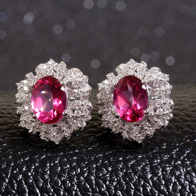 usjewelryhouse semi lightweight wgwo stone earrings precious studs products