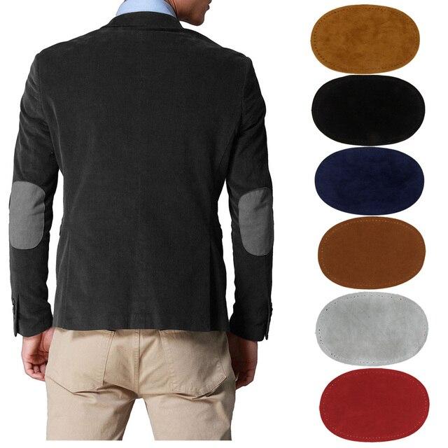 Новые замшевые тканевые патчи пара овальных шьем на колене патчи ремонт швейная ткань сумка Одежда Аксессуары 14x9 см 6 цветов