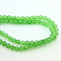 Frete grátis grânulos de cristal bicone 4mm charme grama verde de vidro de vidro solto spacer bead para diy fazer jóias