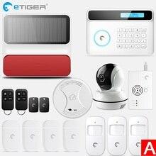 Etiger Wireless GSM Alarm System Android ios APP Control home Security Alarm System with PIR motion sensor IP camera