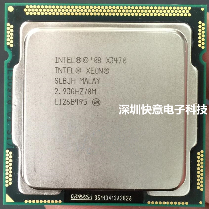 Intel Xeon Processor X3470 Quad Core LGA1156 PC computer Desktop CPU 100% working properly Desktop Server Processor CPU-in CPUs from Computer & Office  1
