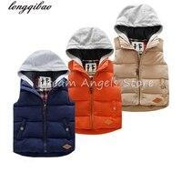 New Autumn Girls Vest Outerwear Baby Waistcoat Vests For Children Kids Boys Formal Vest Coat Vetement Garcon Warm Vests Jacket