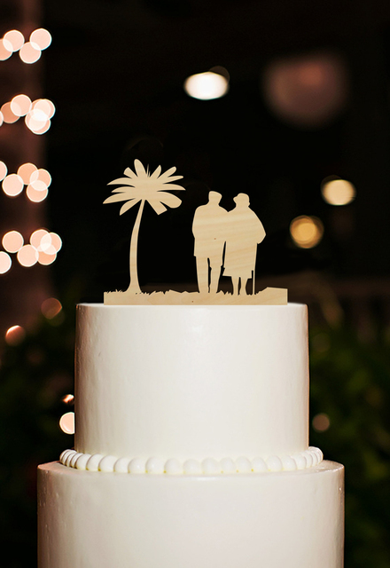 Classic Wife And Husband Wooden Design Wedding Cake Toppers Wood Wedding  Cake Topper With Party Decoration