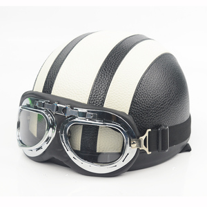 Image 5 - חצי קסדת אופנוע פנים פתוחים אופניים חשמליים קסדה משקפי מגן עבור קטנוע רכיבה על אופניים סיור בציר קסדת להארלי