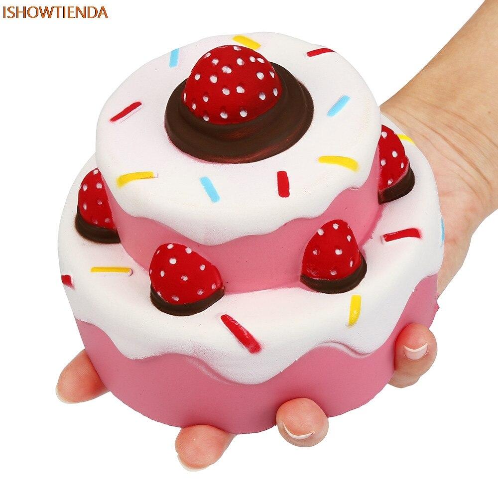 11,5 Cm Jumbo Erdbeere Kuchen Duft Super Langsam Steigenden Kinder Spielzeug Nette Stress Relief Squishy Drop Verschiffen