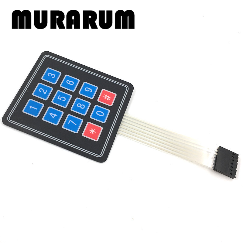 F132-01 200pcs NEW <font><b>12</b></font> Key Membrane Switch Keypad <font><b>4</b></font> <font><b>x</b></font> <font><b>3</b></font> Matrix Array Matrix keyboard