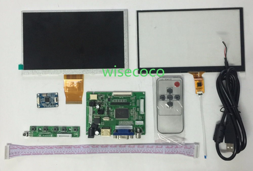 For Raspberry Pi 1024*600 7 inch LCD Screen Display with Touch Panel  Remote Driver Control Board 2AV HDMI VGAFor Raspberry Pi 1024*600 7 inch LCD Screen Display with Touch Panel  Remote Driver Control Board 2AV HDMI VGA