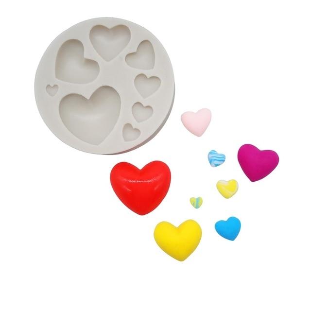 Luyou Luyou DIY много любов форма 3D силиконова торта фондант плесен, торта декорация инструменти, сапун, свещ форми за кухня FM084  t