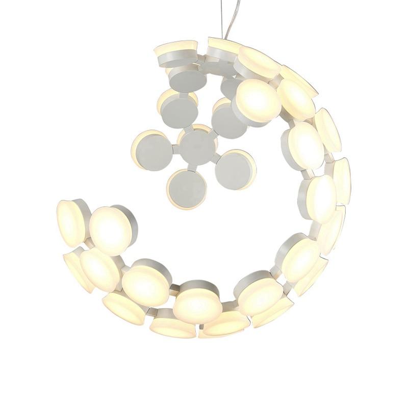 Lampe pendante boule moderne abat-jour lune globe acrylique terre noir blanc lampe suspendue lampara droplamp moderne lampe goutte art déco