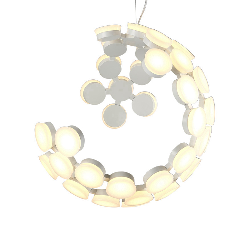 Modern ball Pendant Light moon shade Acrylic globe earth black white hanging Lamp Lamparas droplamp Modern droplight art deco