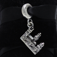 ROCKART 925 Sterling Silver Charles Bridge Silver Pendant Charm Fits European Original Brand Bracelets Bangle Diy