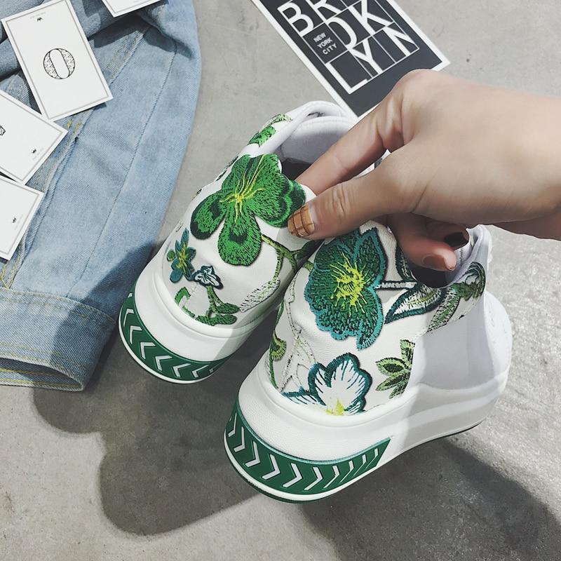 Zapatillas Las Pu Cuña 2019 Negro verde 7 Alto La M416 Más Cm De Altura Plataforma Tacón Zapatos Cada Otoño Flores Moda Mujeres Primavera Vez SqwdqfR